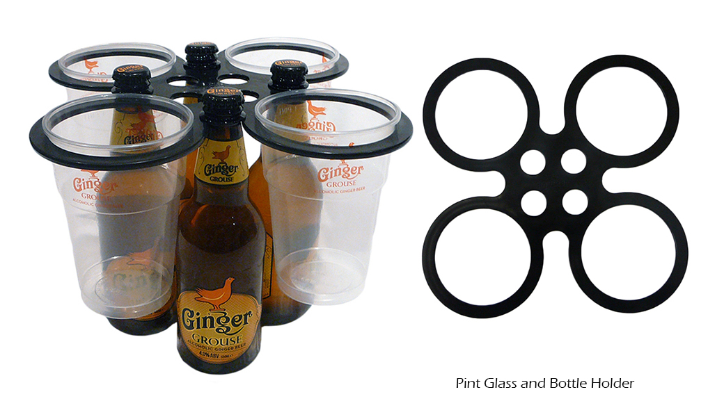 Pint Glass and Bottle Holder