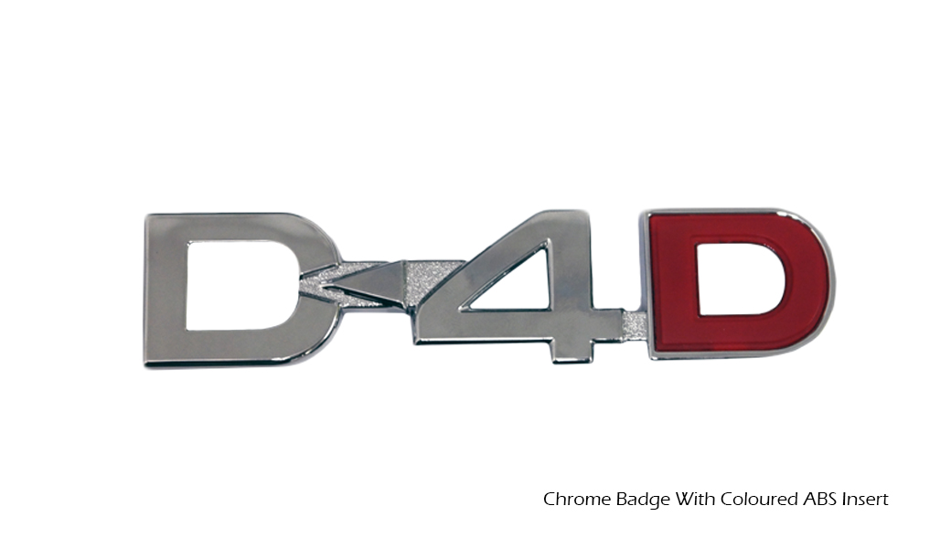 Chrome Badge with Coloured ABS Insert