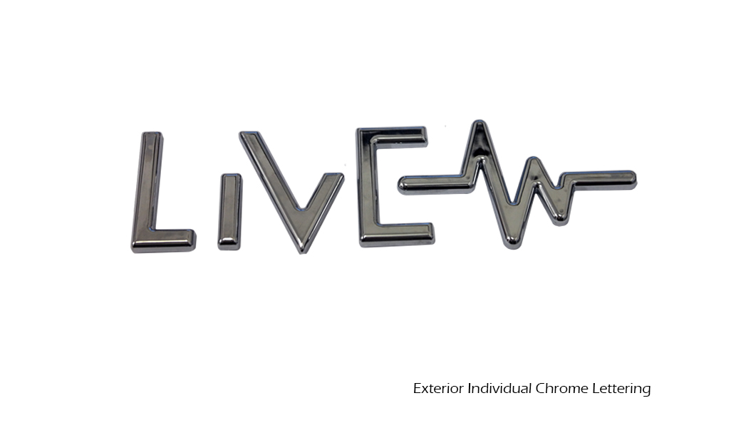 Exterior Individual Chrome Lettering