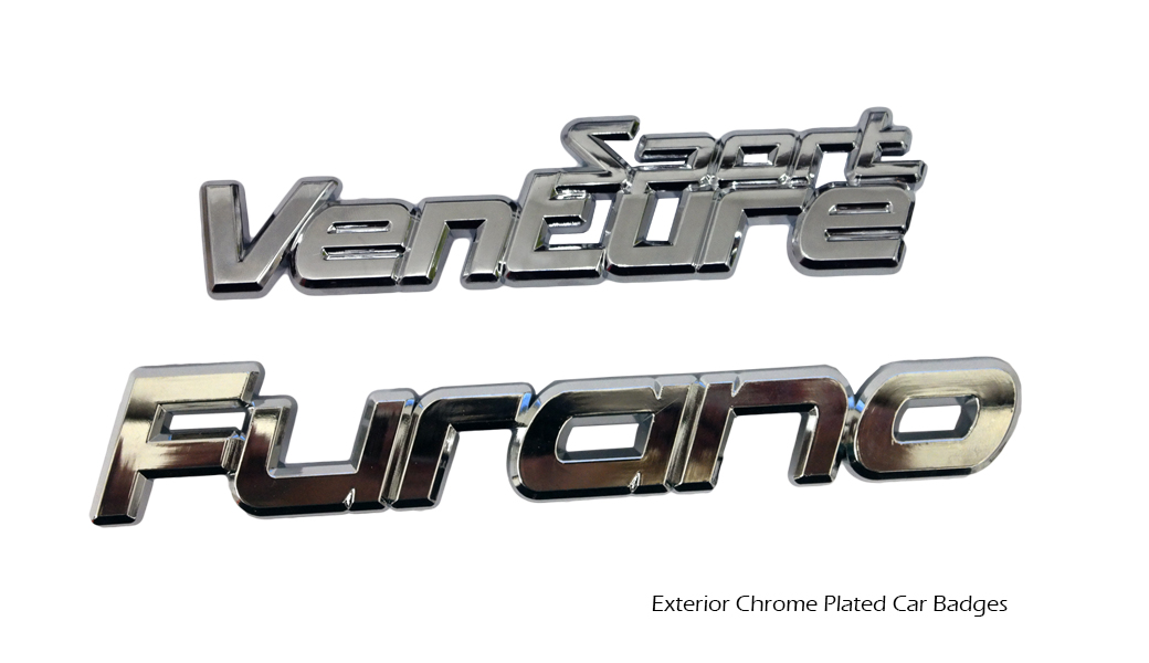 Exterior Chrome Plated Car Badges