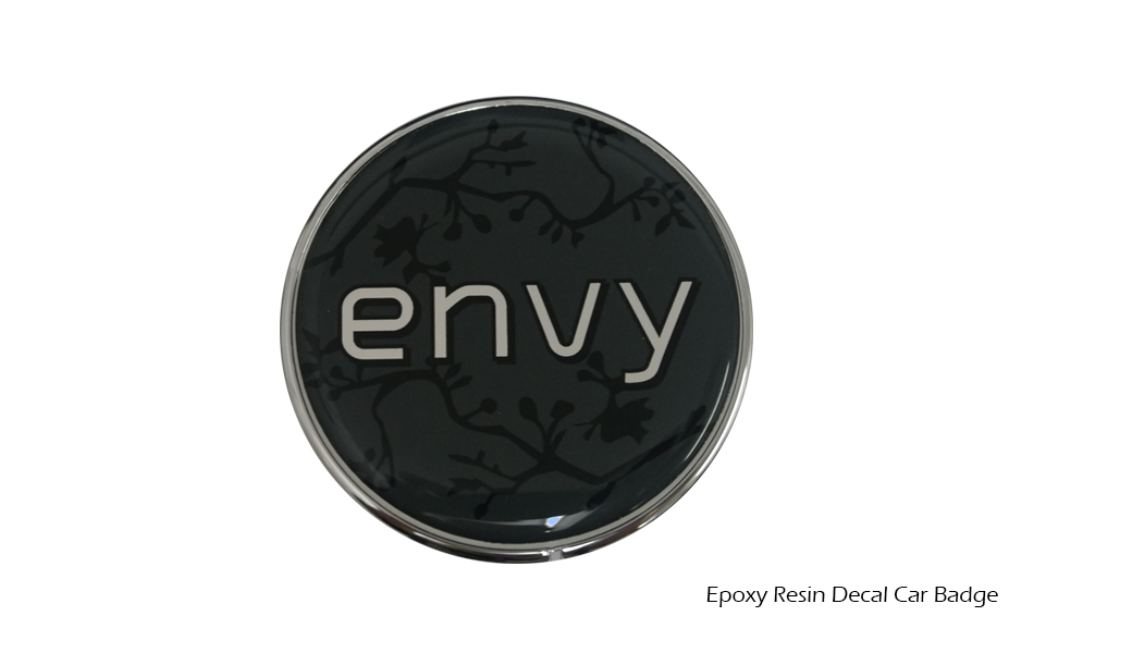 Epoxy Resin Decal Car Badge