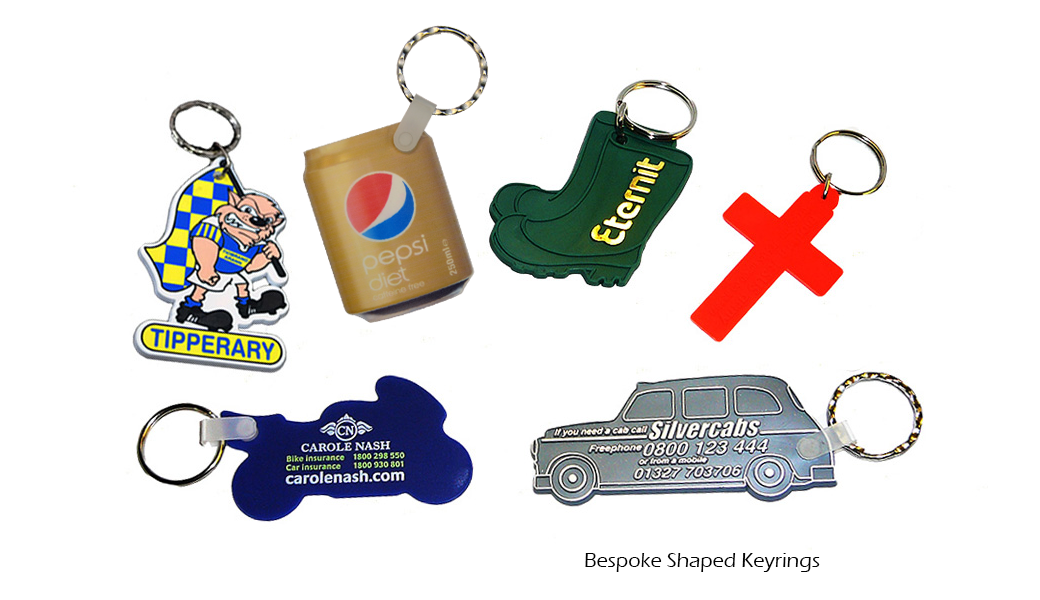 Bespoke Shaped Keyrings